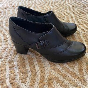 Clark's Bendable Black Ankle Boots